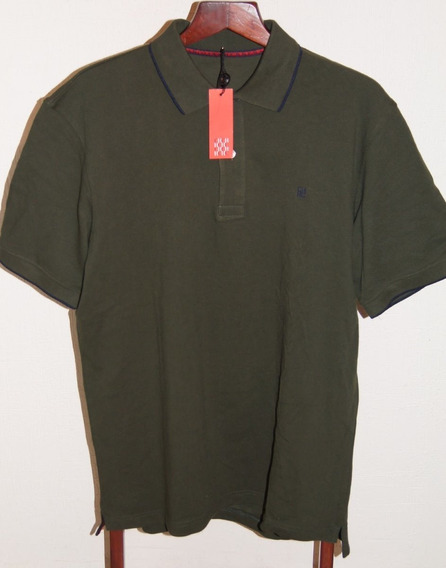 Carolina Herrera Playera Polo Talla L Color Verde Militar