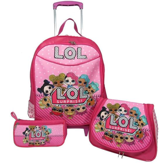 Kit Escolar Infantil Mochila Lol Surprise Tamanho G