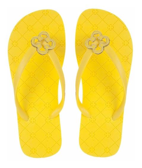 Kit Chinelo E Bolsa Capodarte Original Amarelo -cod: 4009825