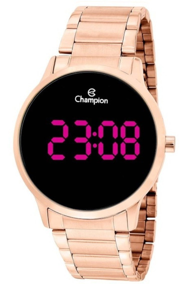 Relógio Champion Feminino Digital Rose Gold Original Garanti