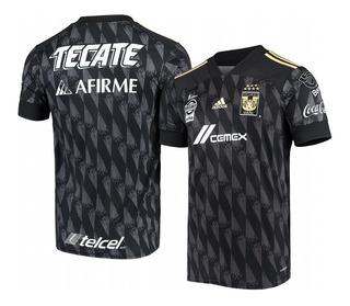 Custom Tigres Uanl 2020 Negro Tercera Réplica Jersey Hombre
