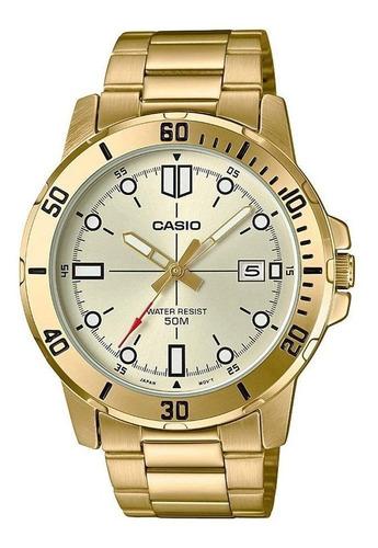 Relogio Casio Masculino Mtp-vd01g 9ev Dourado Analogico