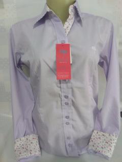 Camisa Camisete Slim Fit Social Feminina 100% Algodão