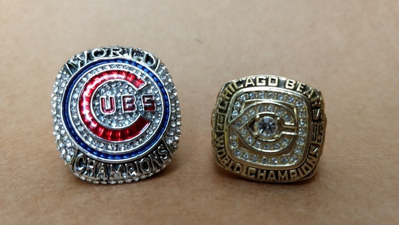 Chicago Cubs & Chicago Bears Set Anillos