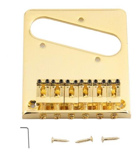Imagem 1 de 6 de Ponte Standard Para Guitarra Telecaster - Dourada