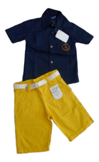 Conjunto Infantil Menino Short Bermuda + Jaquete Jeans Barat