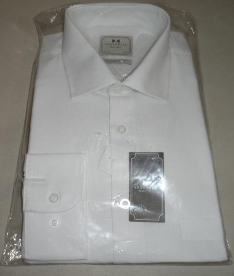 Camisa De Vestir Blanca Vasarelli Manga Larga Talla 44 17½