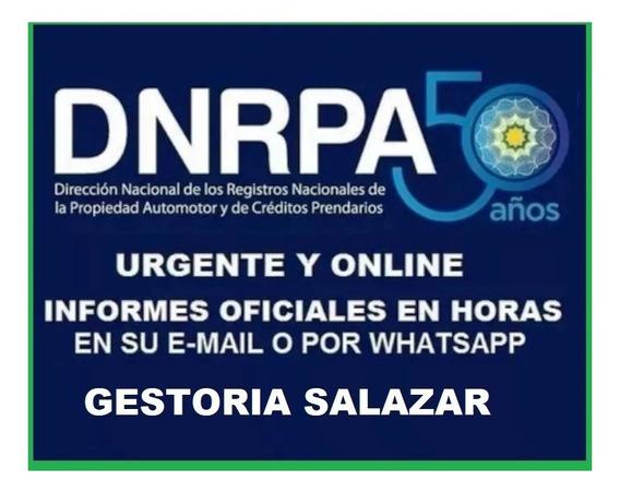 Informe Historico De Dominio Dnrpa -gestoria Salazar-