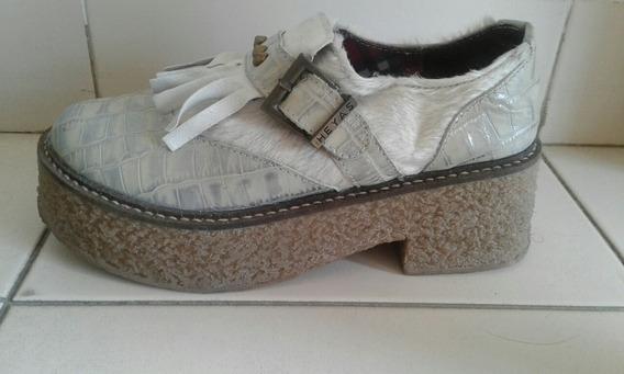Zapatos Suecos Plateados