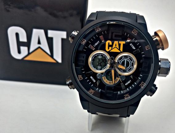 Relojes Cat Caterpillar Doble Tiempo Para Caballero Con Caja