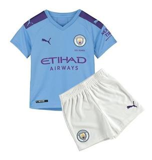 Camisa Manchester City Infantil 19/20 De Bruyne #17 - Pronta Entrega