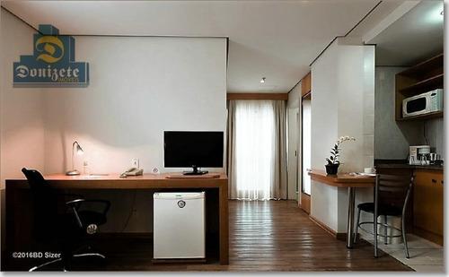 Flat Com 1 Dormitório À Venda, 43 M² Por R$ 280.000,00 - Vila Bastos - Santo André/sp - Fl0004
