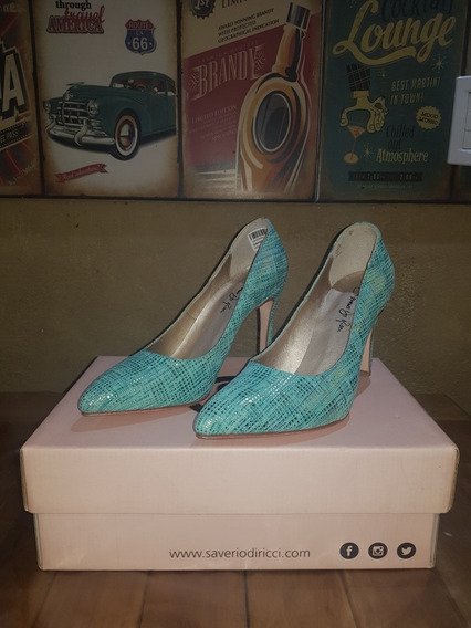 Zapatos Estiletos Dama Color Aqua