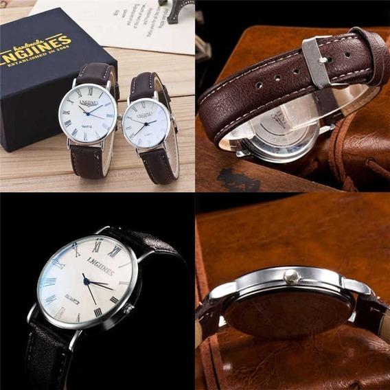 Relógios Para Casal (fundo Branco Correia Preta)