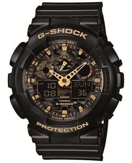 Relógio G-shock Analógico Preto+dourado