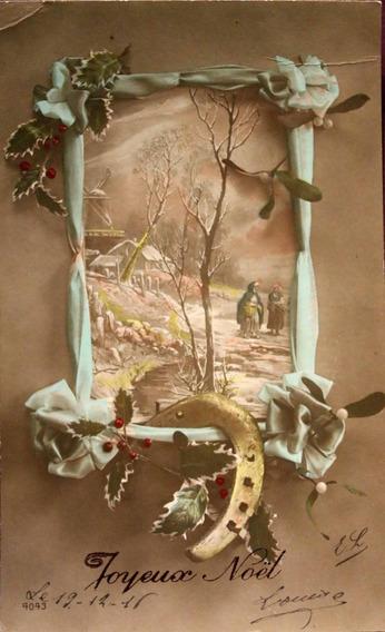 Antigua Postal Francesa Joyeux Noël-1916 - (150507)