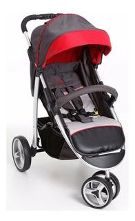 Carrinho De Bebê Apollo Grafite/vermelho 1395grv - Galzerano
