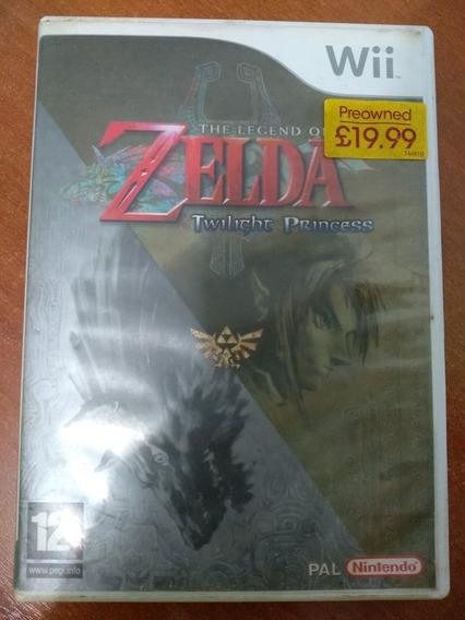Zelda Twilight Princess Wii Europeu Com Encarte