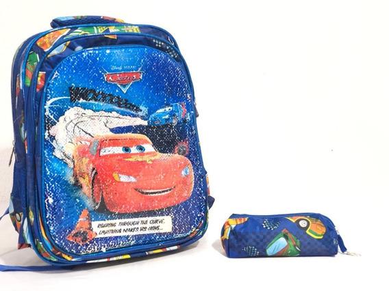 Mochila Infantil Escolar Paete Personagens C/ Estojo