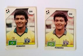 Lote 2 Figurinhas Novas Romário Brasil Copa Do Mundo 1990