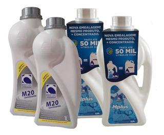 Tratamento S/ Cloro Piscina Spa Kit M20 + M Plus -04 Frascos