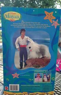 Disney Príncipe Eric Y Max Muñeca Set De La Sirenita