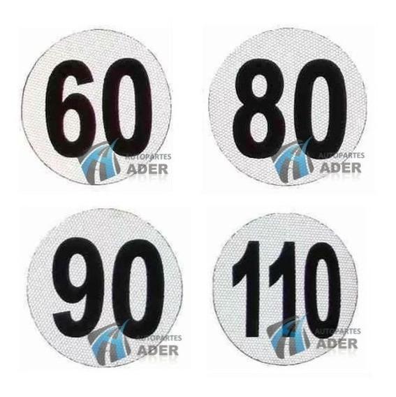 Numero Maxima Velocidad Reflectivo Homologado 110 90 80 Vtv