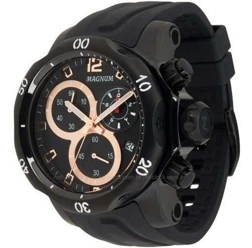 Relógio Magnum Masculino Cronógrafo Ma33755p Preto