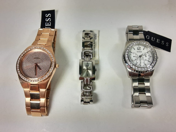 Combo Relógios Originais 3 Peças - Guess Feminino