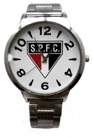 Relógio Masculino Analógico São Paulo Prata Numérico