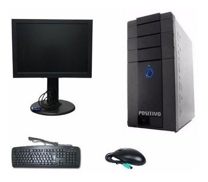 Computador Completo + Monitor + Teclado E Mouse Com Garantia