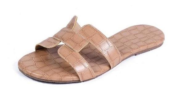 Chinelo Rasteira Mercedita Shoes Estampa Croco Extra Macia