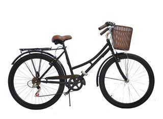 Bicicleta Vintage Retro Paseo Con Cambios Shimano V6.