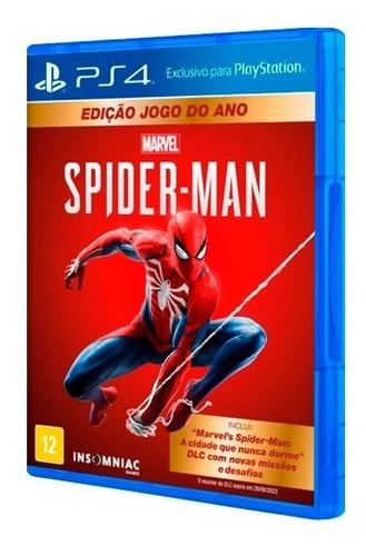 Spiderman Ps4 Marvel's Playstation Mídia Física Seminovo
