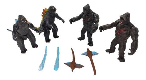 Imagen 1 de 5 de Juguetes Godzilla Vs. Kong King Monarch Figuras Articulables