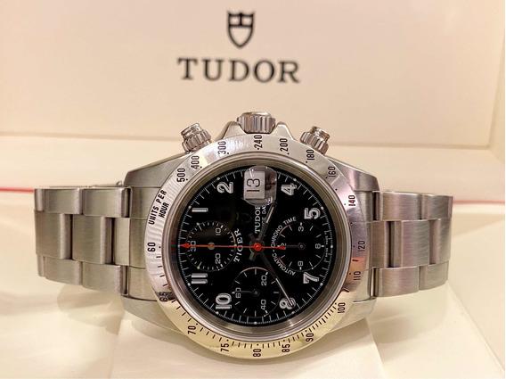 Tudor Prince Tiger Chronograph Em Aço , Raridade E Impecsfel