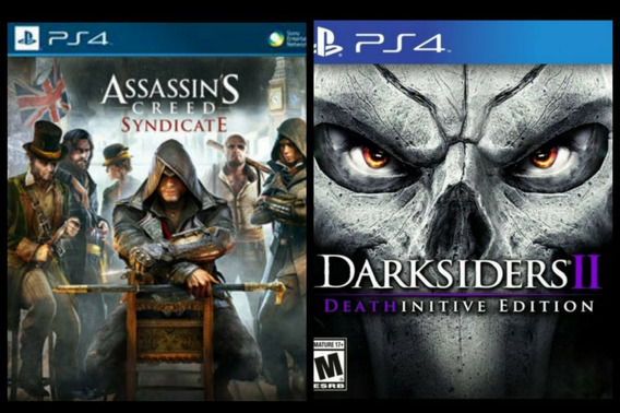 Assassins Creed Syndicate + Darksiders 2 Ps4 2ª Digital Psn