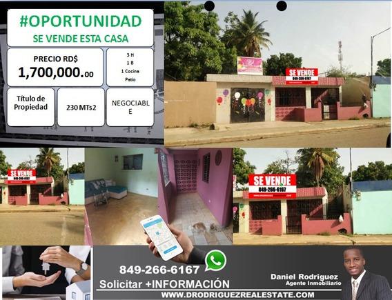 De #oportunidad Se Vende Casa En Hato Nuevo, Los Alcarrizos