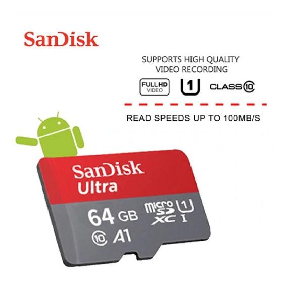 Cartão De Memoria Sandisk Micro Sdxc 64gb A1 100mg/s