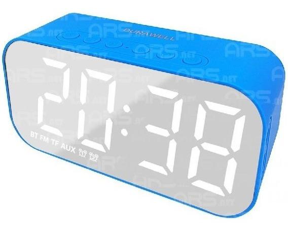 Caixa Som Bluetooth Relógio Espelho Despertador Com 2 Alarme