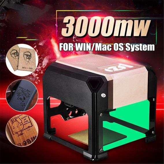 Mini Gravadora Impressora Cnc Laser 3000mw Pronta Entrega