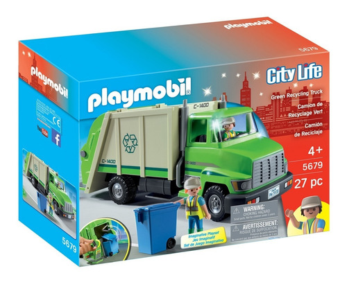 Playmobil 5679 Camion De Reciclaje Basura Original Intek