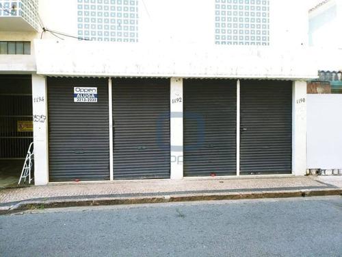 Salão Para Alugar, 40 M² Por R$ 1.200,00/mês - Centro - Campinas/sp - Sl0026
