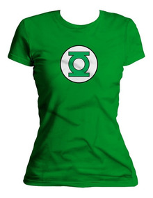 Xperma Playera Dama Escudo Linterna Verde