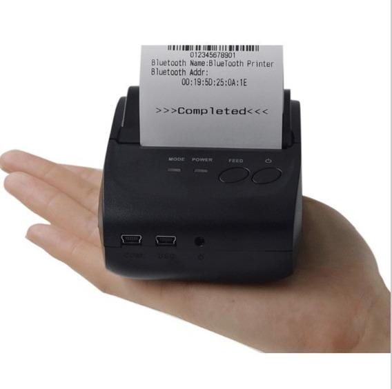 Mini Impressora Portátil Bluetooth Térmica Windows 58 Mm