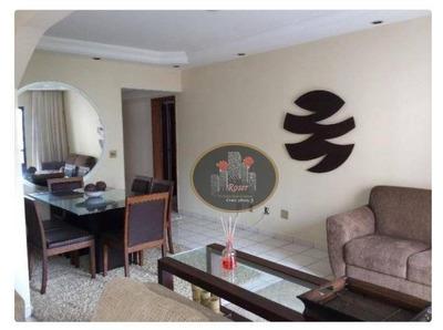 Apartamento Com 3 Dormitórios Para Alugar, 97 M² Por R$ 3.500/mês - Pompéia - Santos/sp - Ap3138