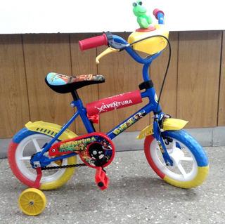 Bicicleta Rodado 12 Varon Ruedas Plasticas Rueditas Freno
