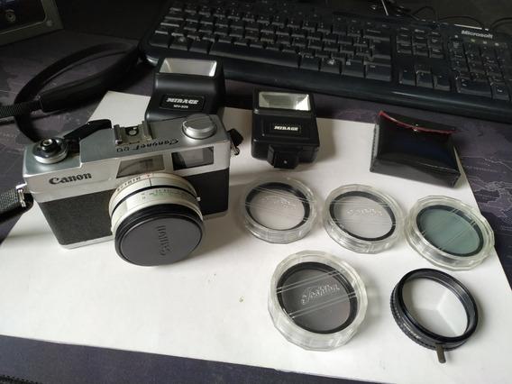 Câmera Fotográfica Canon Canonet 28 C/ 5 Filtros Funcionando