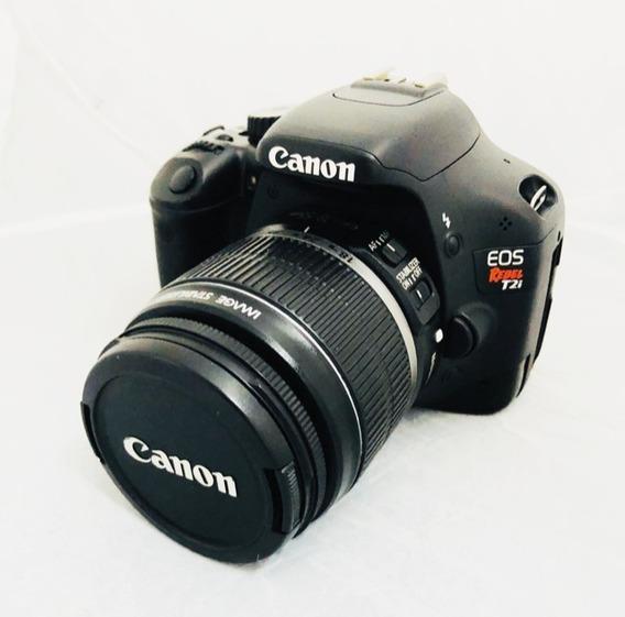 Camera Canon T2i Lente 18-55 Seminova Impecável