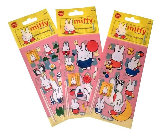 Stickers Conejito Miffy X10 Planchas Conejo Kawaii Souvenir